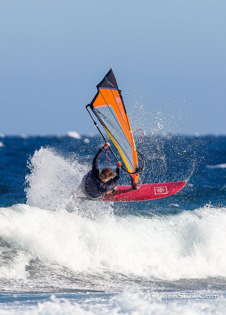 Windsurfing session at El Cabezo - El Medano